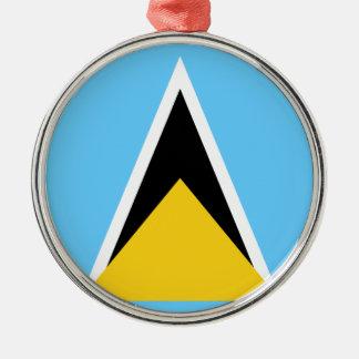 Ornement Rond Argenté Flag_of_Saint_Lucia