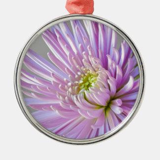 Ornement Rond Argenté fleur