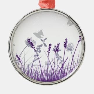 Ornement Rond Argenté Floral, art, conception, beau, nouvelle, mode