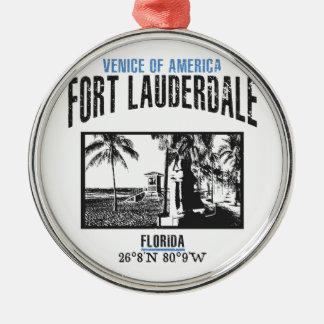 Ornement Rond Argenté Fort Lauderdale