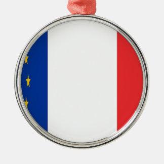Ornement Rond Argenté France Europe