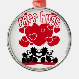 Ornement Rond Argenté Free_Hugs
