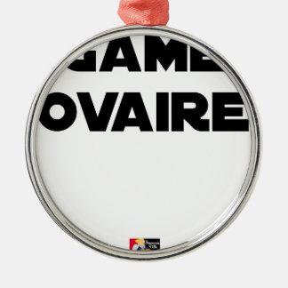 Ornement Rond Argenté Game Ovaire - Jeux de Mots - Francois Ville