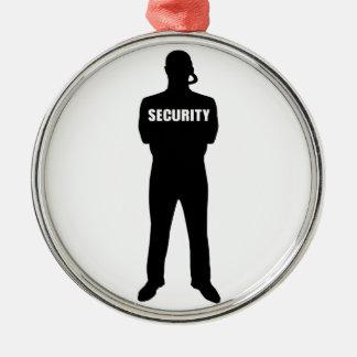 Ornement Rond Argenté Garde de sécurité