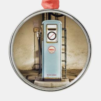 Ornement Rond Argenté gaz-pompe