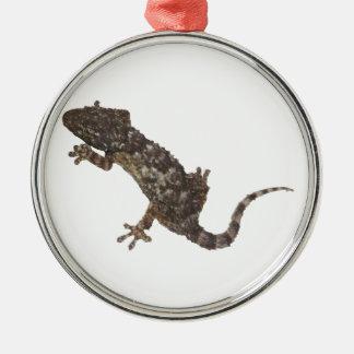 Ornement Rond Argenté gecko