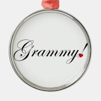 Ornement Rond Argenté Grammy !