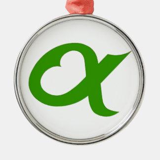 Ornement Rond Argenté Green Alpheart