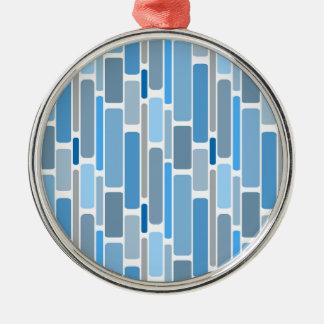 Ornement Rond Argenté Gris bleu de rétros blocs