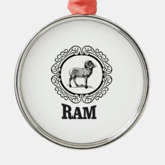 Ornement Rond Argenté guerrier de RAM