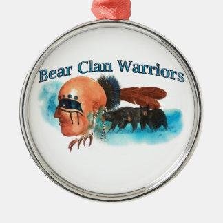 Ornement Rond Argenté Guerriers de clan d'ours