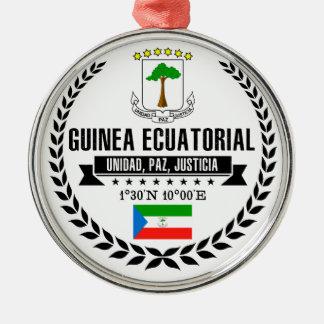 Ornement Rond Argenté Guinée équatoriale