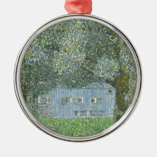 Ornement Rond Argenté Gustav Klimt - Bauerhaus dans la peinture de