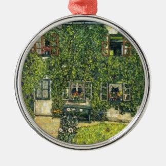 Ornement Rond Argenté Gustav Klimt - la Chambre de Guardaboschi