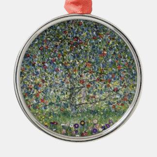 Ornement Rond Argenté Gustav Klimt - peinture de pommier