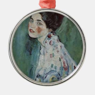 Ornement Rond Argenté Gustav Klimt - portrait de Madame Painting