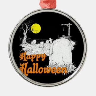 Ornement Rond Argenté Halloween do-it-yourself