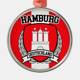 Ornement Rond Argenté Hambourg
