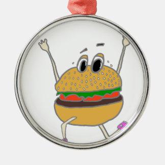 Ornement Rond Argenté hamburger courant