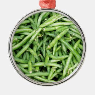 Ornement Rond Argenté Haricots instantanés verts organiques Vegitarian