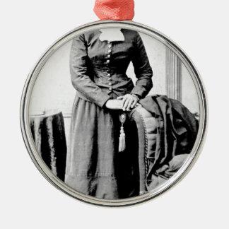Ornement Rond Argenté Harriet Tubman