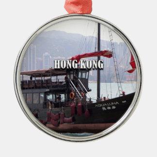 Ornement Rond Argenté Hong Kong : Ordure chinoise
