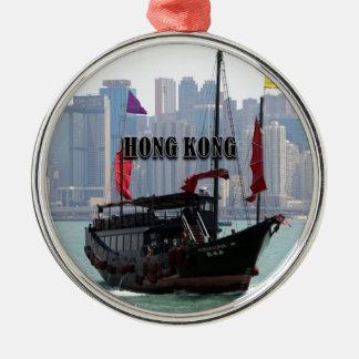 Ornement Rond Argenté Hong Kong : Ordure chinoise 2