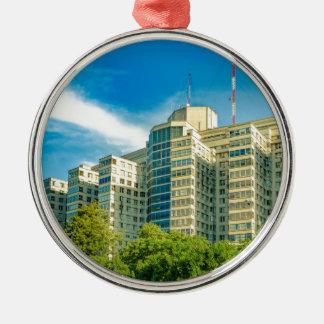 Ornement Rond Argenté Hôpital établissant la vue extérieure, Montevideo