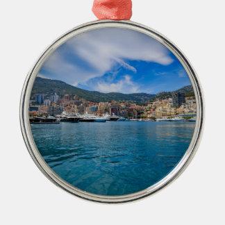 Ornement Rond Argenté Horizon du Monaco