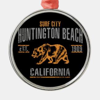 Ornement Rond Argenté Huntington Beach