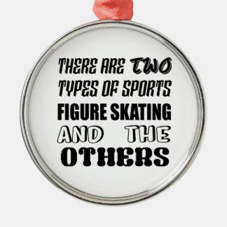 Ornement Rond Argenté Il y a deux types de patinage artistique de sports