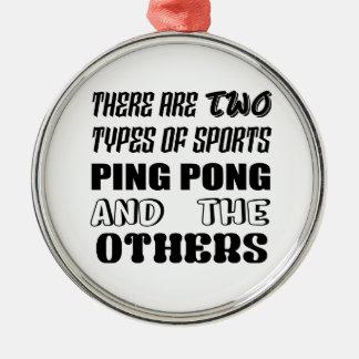 Ornement Rond Argenté Il y a deux types de ping-pong et de d'autres de