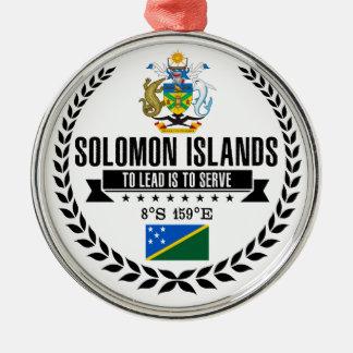 Ornement Rond Argenté Îles Salomon