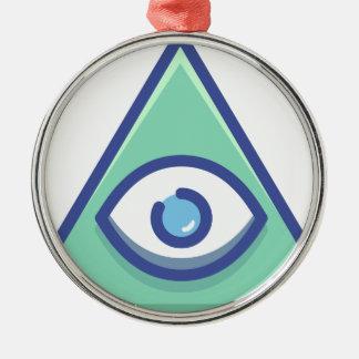 Ornement Rond Argenté Illuminati