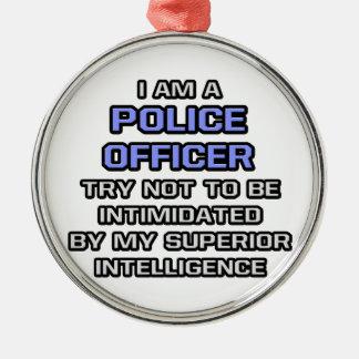 Ornement Rond Argenté Intelligence supérieure de plaisanterie de