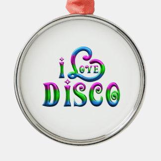 Ornement Rond Argenté J'aime la disco