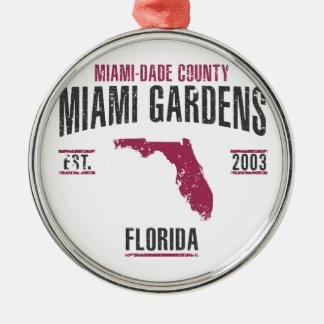 Ornement Rond Argenté Jardins de Miami