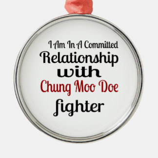 Ornement Rond Argenté Je suis dans un rapport commis avec Chung que le