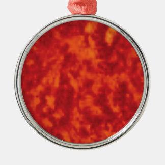 Ornement Rond Argenté jello orange