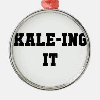 Ornement Rond Argenté Kaleing il