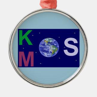 Ornement Rond Argenté Kosmos étoilé