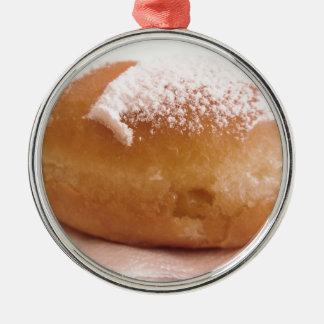 Ornement Rond Argenté Krapfen simple (beignet italien)