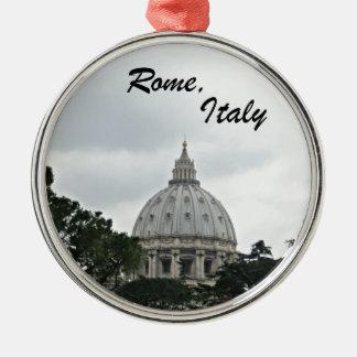 Ornement Rond Argenté La basilique de St Peter, Rome, Italie