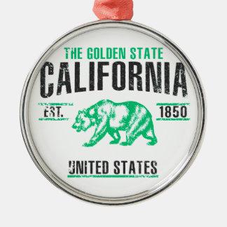 Ornement Rond Argenté La Californie