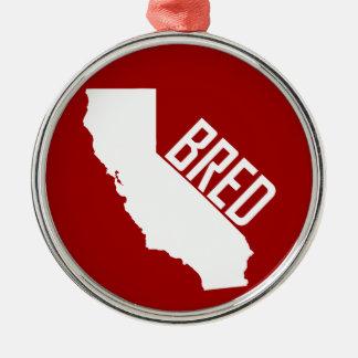 Ornement Rond Argenté La Californie a multiplié