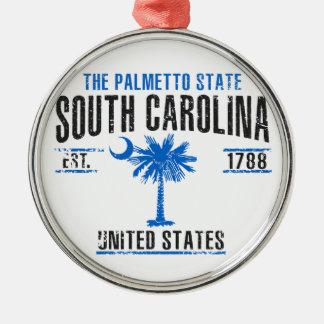 Ornement Rond Argenté La Caroline du Sud