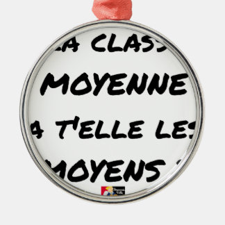 ORNEMENT ROND ARGENTÉ LA CLASSE MOYENNE A T'ELLE LES MOYENS ?