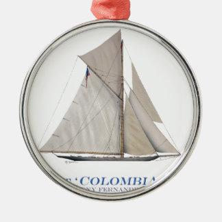Ornement Rond Argenté La Colombie 1899