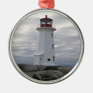 Ornement Rond Argenté La crique la Nouvelle-Écosse de Peggy d'ornement