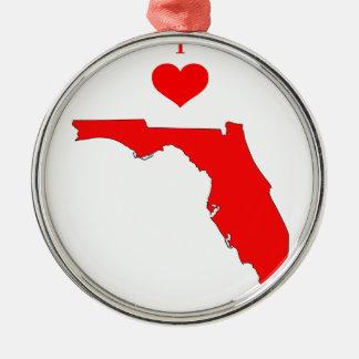 Ornement Rond Argenté La Floride